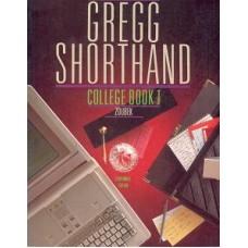 GREGG SHORTHAND COLLAG BOOK 1